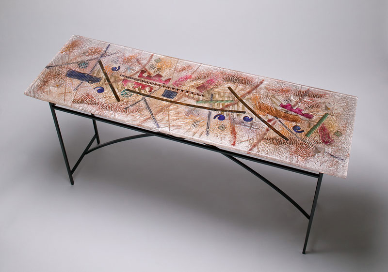 """4217 – Console Table. 16"""" x 60"""" x 30"""". Available."""