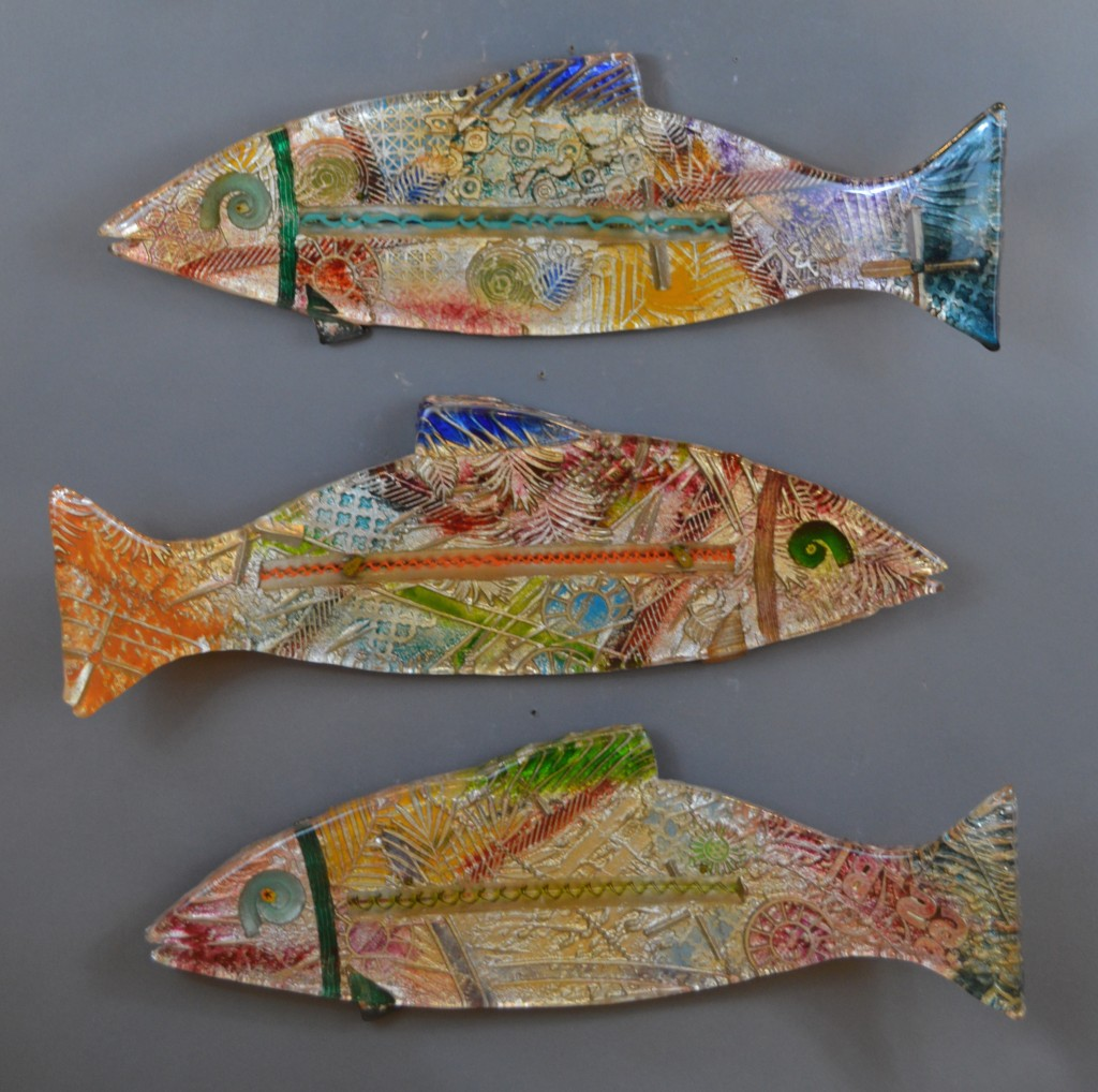 "9 - Fish. 6"" x 24"". Various, available."