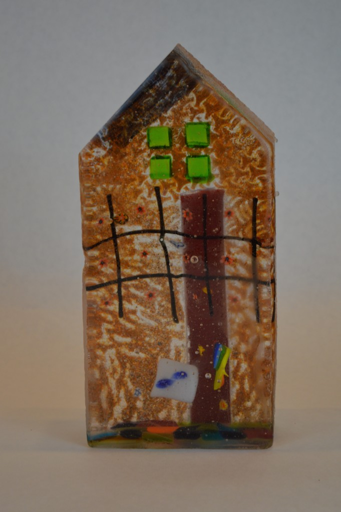 "62 – Small House, front view. 3-4"" x 7-9"". Available."