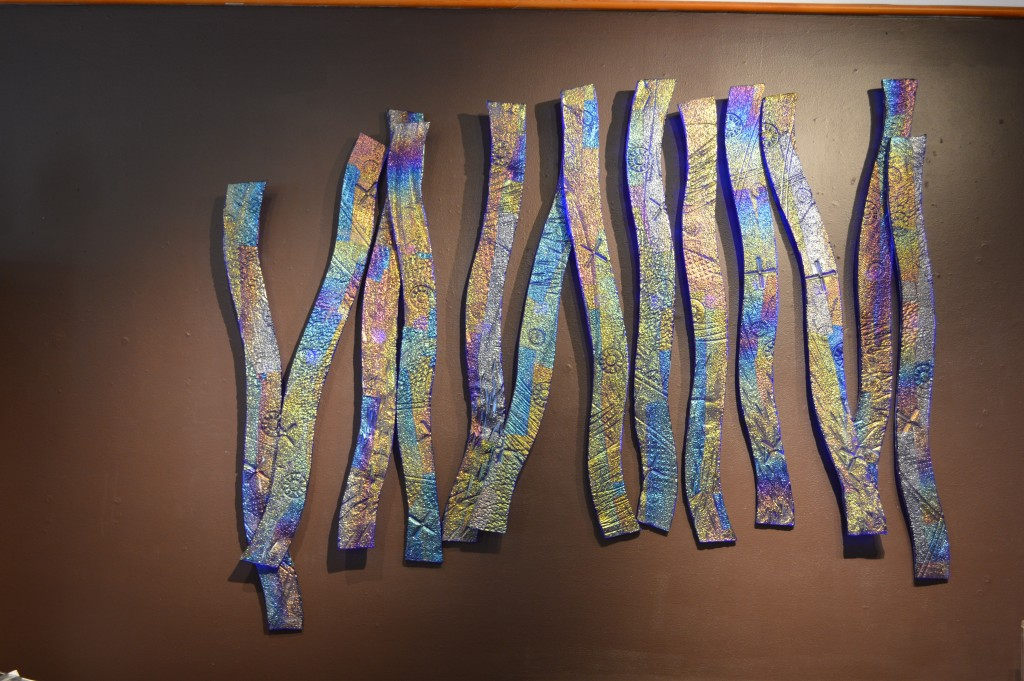 "151 – Blue Waves mounted at Bainbridge Gallery. 64"" x 54""."